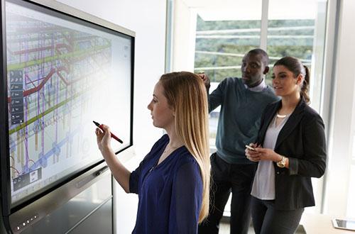 SMART développe le logiciel SMART Meeting Pro au cours du temps