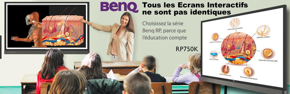 ecran interactif BenQ avec revêtement antibacterien