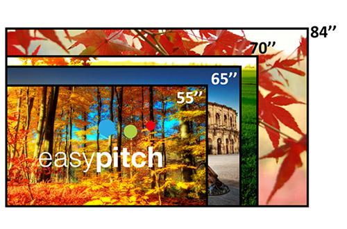 Les écrans interactifs tactiles existent en différentes tailles