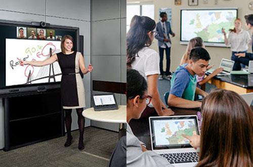 Les écrans interactifs pour l'entreprise et l'éducation
