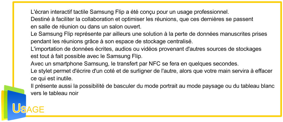 samsung Flip Usage