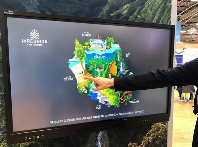 ecran interactif en tourisme