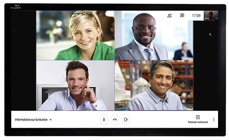 Google Meet ecran interactif