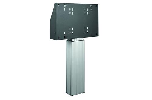 Les supports fixes peuvent être sous forme de colonne ajustable en hauteur ou support mural
