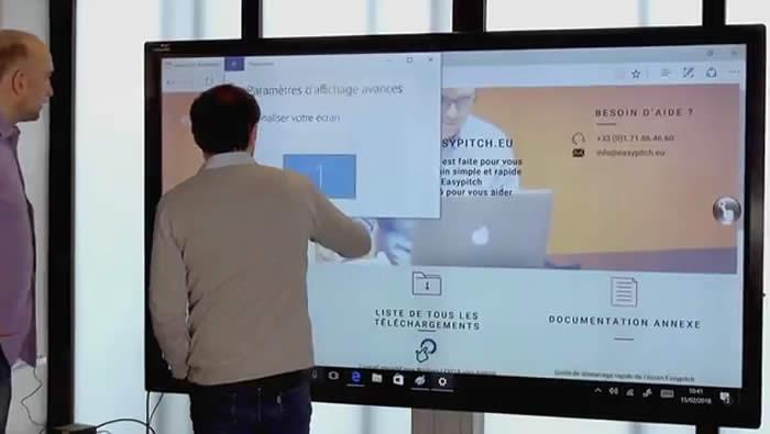 usage ecran interactif en entreprise